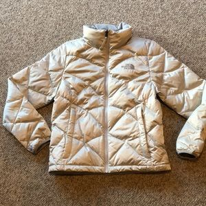 The North Face Grey Puffer 550 Down Jacket Small
